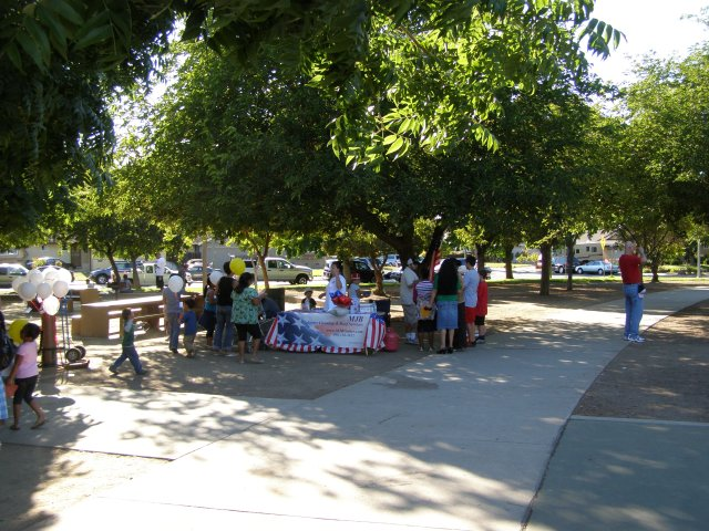 Image of the national Night Out business at Starbird Park.